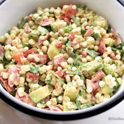Avocado Bacon Tomato Spinach Corn Salad