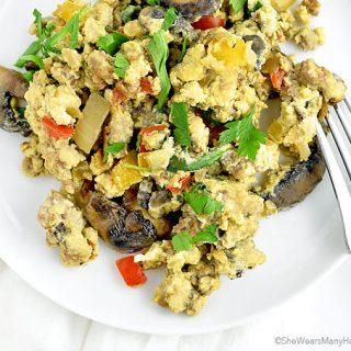 Loaded Scrambled Eggs Recipe   shewearsmanyhats.com