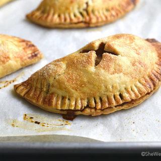 Easy Baked Apple Hand Pies Recipe | shewearsmanyhats.com