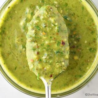 Easy Chimichurri Recipe | shewearsmanyhats.com
