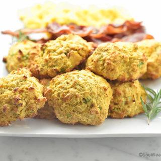 Sweet Potato Cheddar Drop Biscuits Recipe   shewearsmanyhats.com