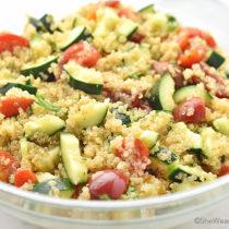 Cucumber and Tomato Quinoa Salad Recipe   shewearsmanyhats.com