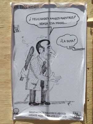 Cartoon depicting Oaxaca's Governor.