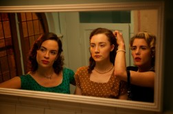 "Eve Macklin as ""Diana,"" Saoirse Ronan as ""Eilis"" and Emily Bett Rickards as ""Patty"" in BROOKLYN. Photo by Kerry Brown. © 2015 Twentieth Century Fox Film Corporation All Rights Reserved"