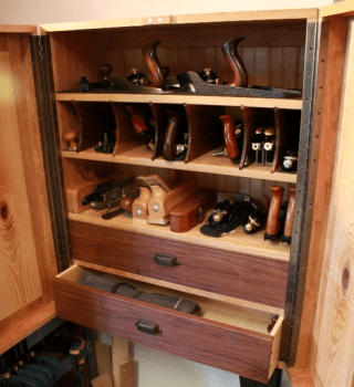 Inside tool cabinet