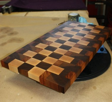 Jatoba, Walnut and Maple Cutting board