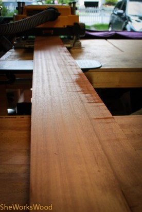 Fresh out of the planer with a gorgeous surface. Can't wait to see it under finish.