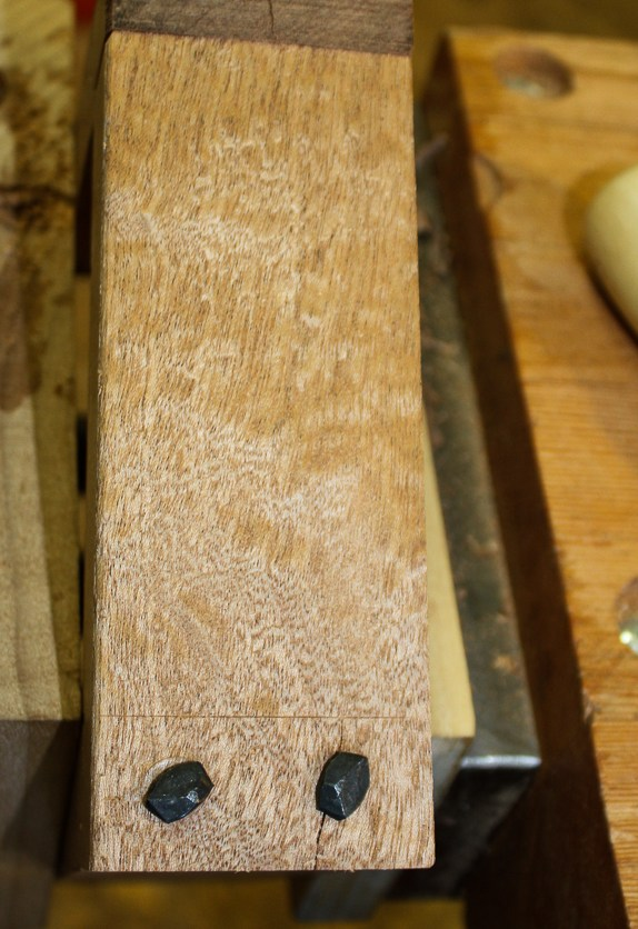 Test joints. Three pilot holes split before I got the right size.
