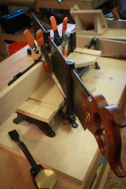 Cutting to length and mitering the joints.
