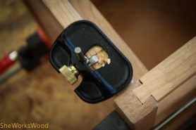 Mortise for top attachment.