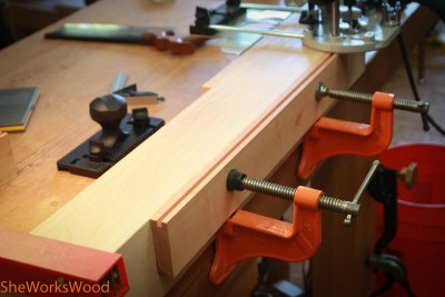 Making tenon mortises.