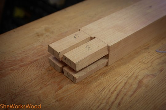 I was able to cut the Dovetailed Bridal Joint with my hand saw.