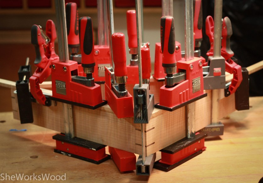 The dance of the clamps.