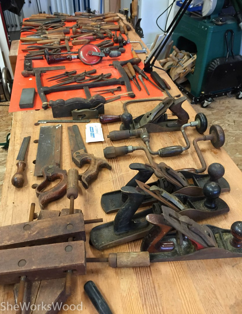 Original stash of tools.