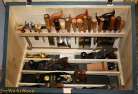 Top compartment with tools.