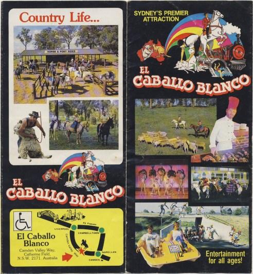 Original brochure - horse rides, waterslides & BBQs