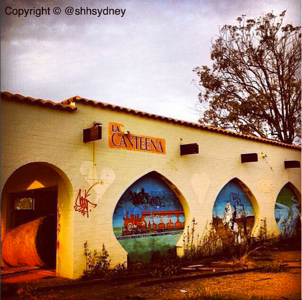 La Canteena - huge hay bales & montage murals