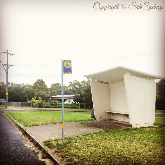 60s style bus stop shelter