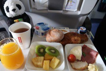ブリュッセル航空ビジネスクラス機内食