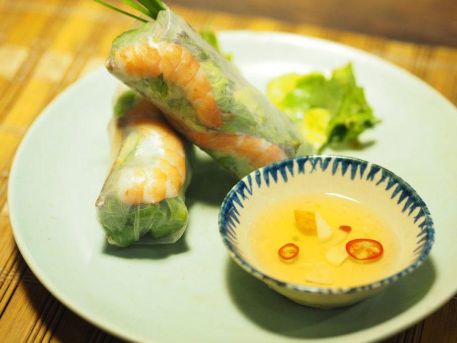 ベトナムホイアンのVy's Market Restaurantで食べた生春巻き