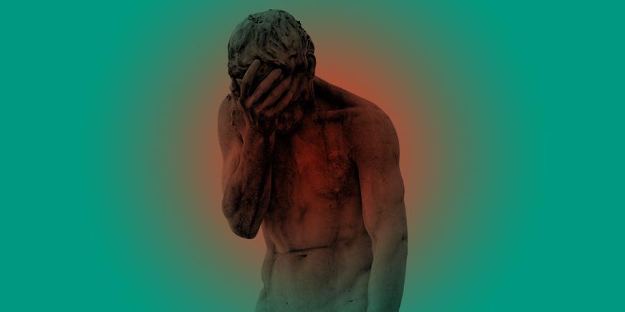 Каин, сожалеющий об убийстве своего брата Авеля