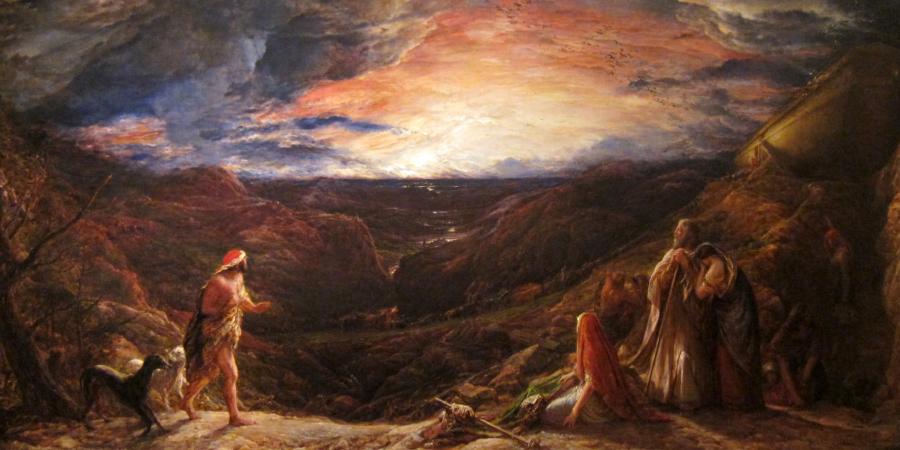 Джон Линнелл, «Ной: накануне потопа», холст, масло, 1848