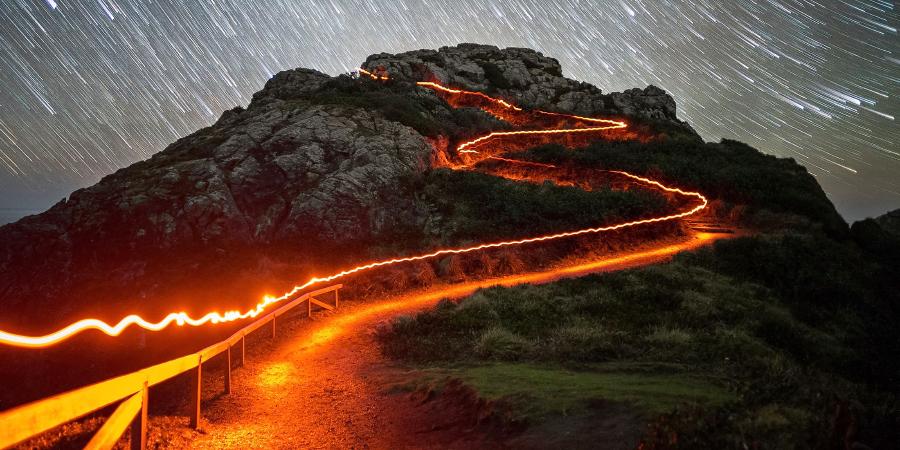 Дорога на вершину Свадебной скалы, Калифорния, США