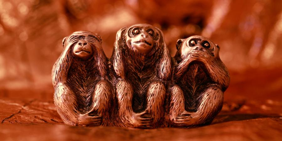 Статуэтка трёх обезьян