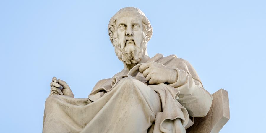 Статуя древнегреческого философа Платона