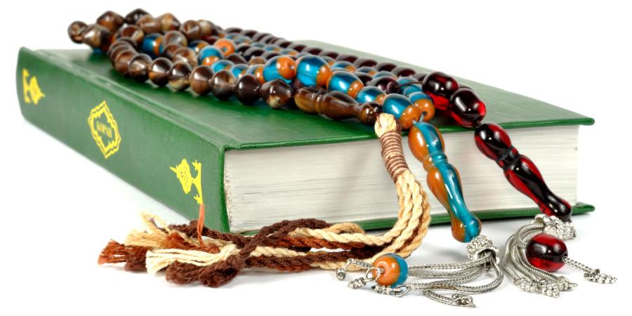 Молитвенные чётки на зелёном Коране