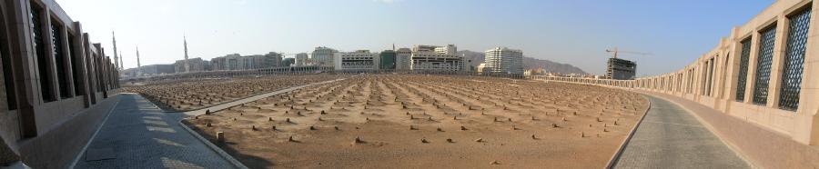 Панорама кладбища Джаннат аль-Баки, Медина, Саудовская Аравия