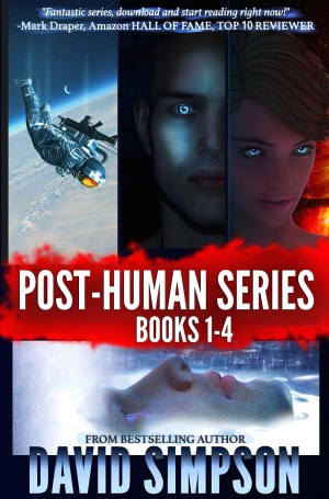 Post-Human Series Books 1-4 by David Simpson available free on Kindle