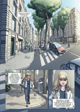 Première page de cet opus, Camille dans le monde actuel.