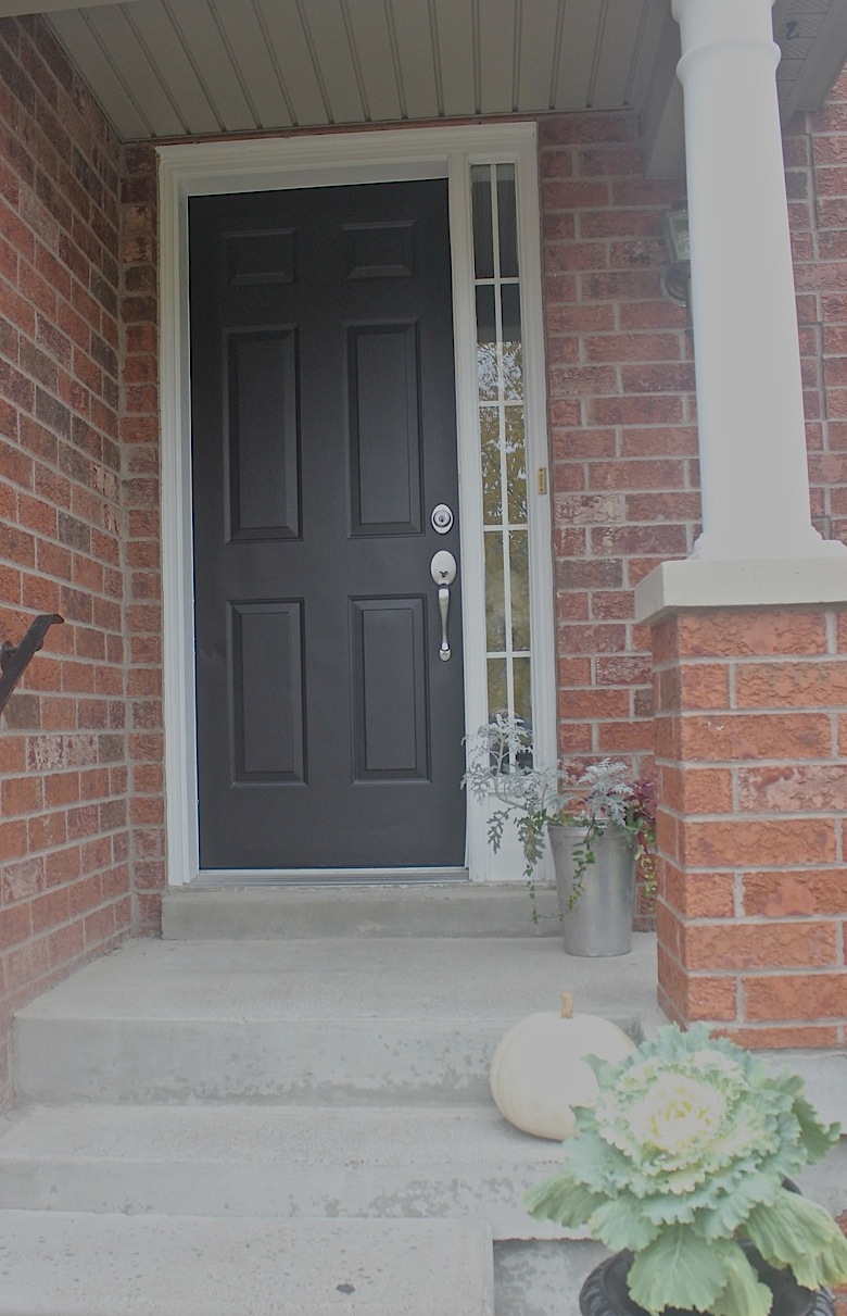 Painted front entry doors. at home garage amp front door paint ...