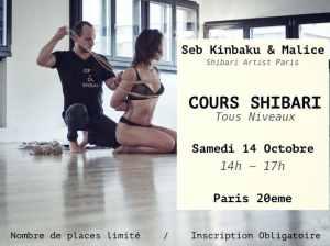flyer cours shibari octobre 2017