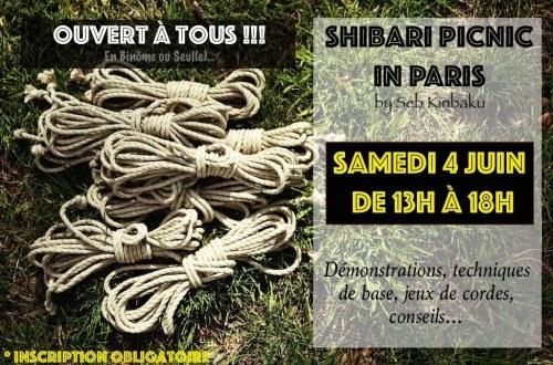 Cours shibari Paris / Shibari Picnic paris