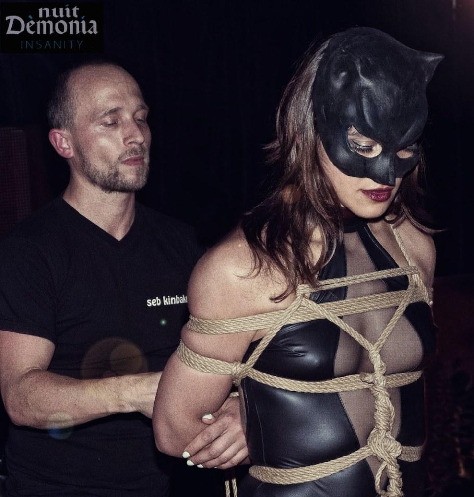 Nuit démonia / Performance Shibari / Seb Kinbaku / Shibarti Artist Paris