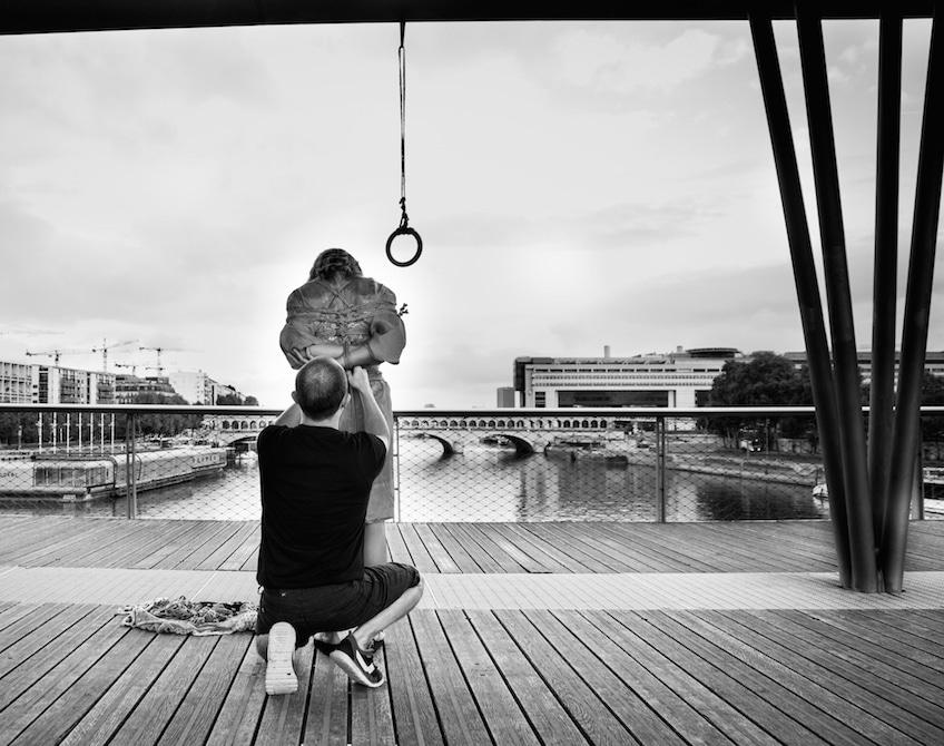 Performance shibari Paris