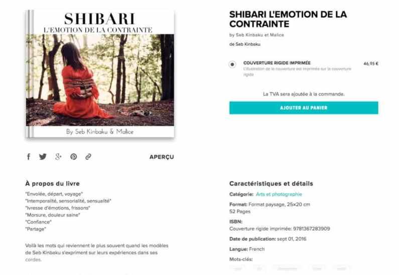 Livre photo shibari - SHIBARI EMOTION DE LA CONTRAINTE