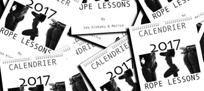 Rope Lessons by Seb Kinbaku : Le calendrier sexy 2017 de shibari, kinbaku et bondage japonais