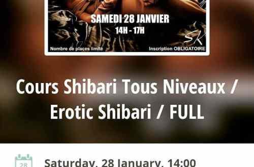 Cours shibari paris : Janvier 2017