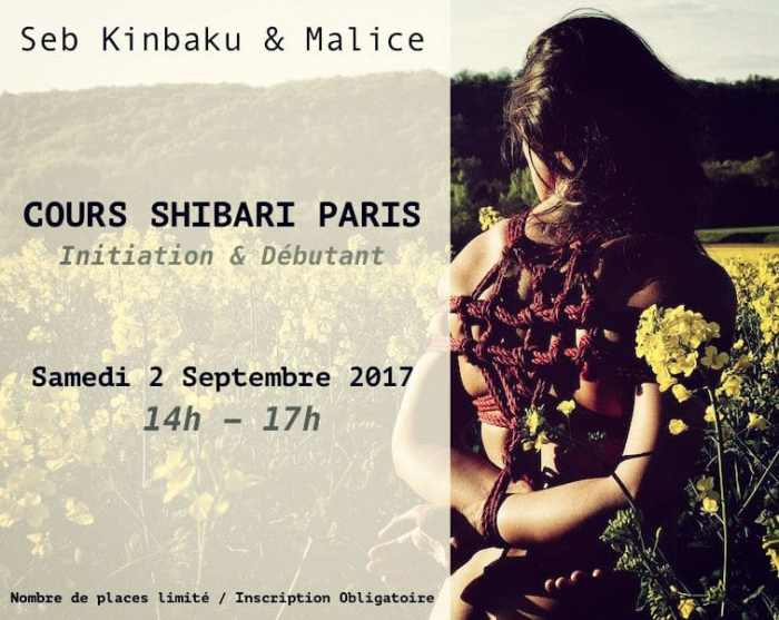 Cours Shibari Paris par Seb Kinbaku
