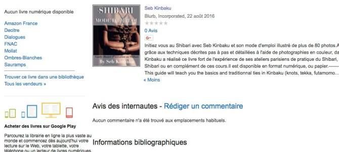 Shibari, Mode d'Emploi dans Google Books