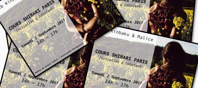 Cours shibari 2 septembre 2017