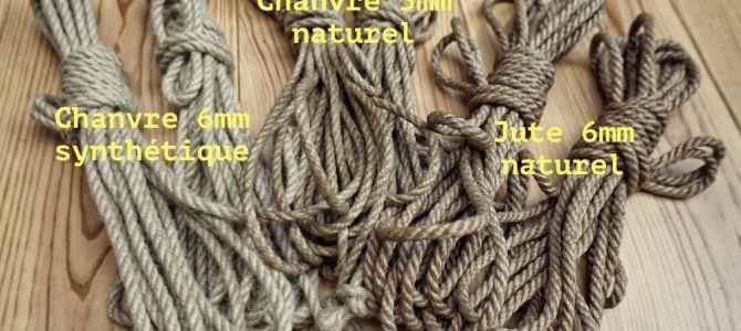 Les cordes de shibari disponible à la vente