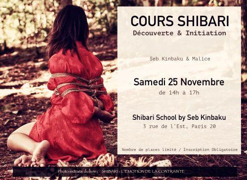 atelier shibari paris / Apprendre le shibari avec seb kinbaku