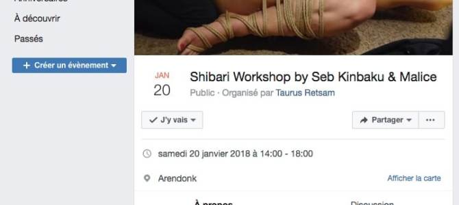 Shibari workshop Belgique / Janvier 2017