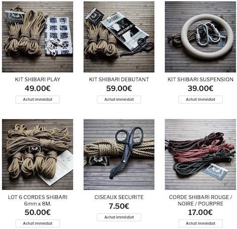 Boutique du shibari par Seb Kinbaku