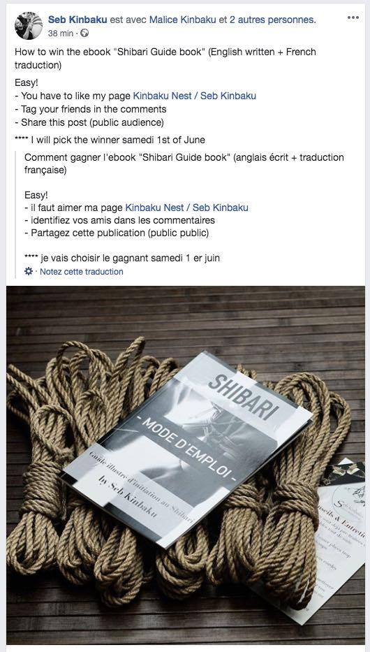 """Gagnez le guide """"Shibari Mode d'Emploi"""" par Seb Kinbaku"""