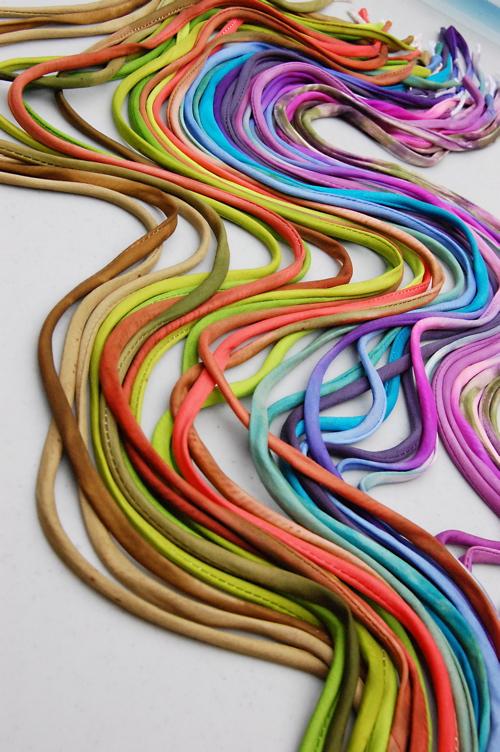 flow of silk cording